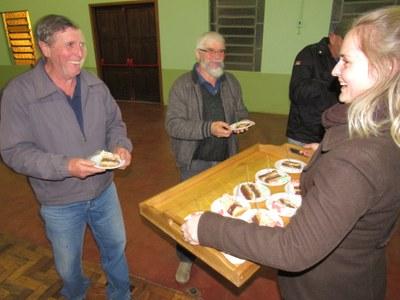 Distribuição dos bolos