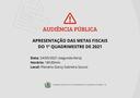 AUDIÊNCIA PÚBLICA  APRESENTAÇÃO METAS FISCAIS