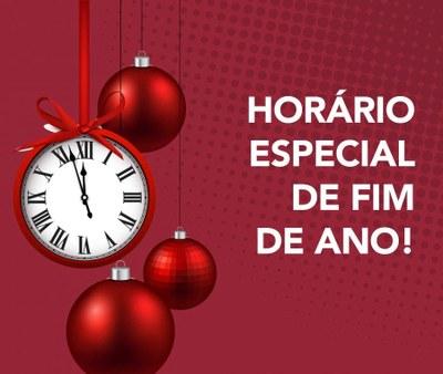 Horário de Atendimento no Natal e Final de Ano