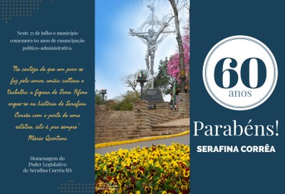 Parabéns Serafina Corrêa!